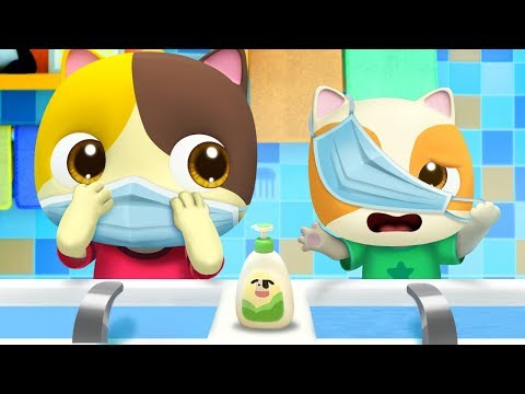 戴口罩步驟歌   2020最新好習慣兒歌童謠   卡通   動畫   寶寶巴士   BabyBus
