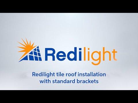 REDi-lite - Tile roof installation. (ST brackets)