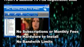 PC satellite TV PRO Registration Code | Watch Over 3500 Channels!