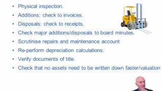 acca f8 the audit of non current assets