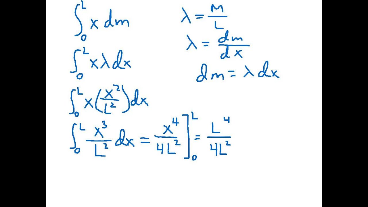 How do you find the center of mass with calculus?