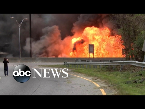 Fire causes portion of Atlanta highway to collapse