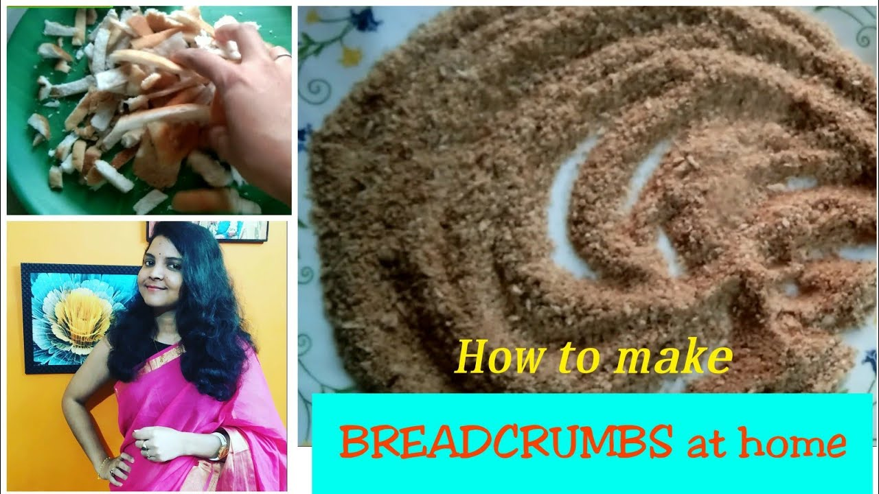 How to make perfect BREAD CRUMBS at home.... Breadcrumbs ...