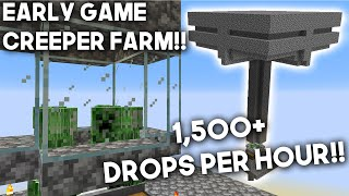 How to build a simple Creeper farm! Minecraft 1.15.2 & 1.16! [1,500+ drops per hour]
