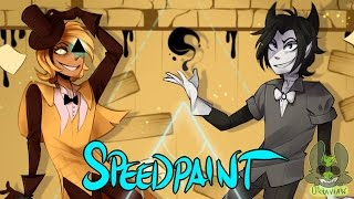 | SPEEDPAINT | Bill Cipher & Bendy | Gravity Falls & BATIM |