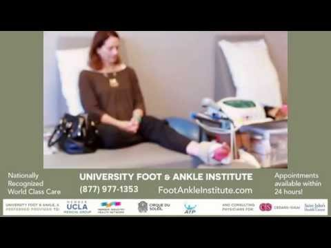 Cynthia's discusses her physical therapy treatment for a severely sprained ankle.