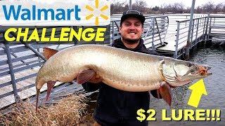 $2 Walmart Lure Catches FISH OF A LIFETIME!!! (Walmart Challenge)