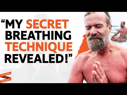 Wim Hof The Iceman Demonstrates His Breathing Technique with