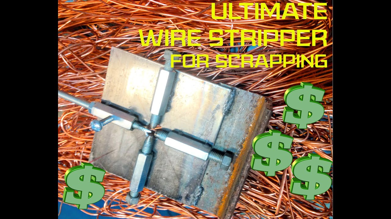 Copper wire stripper for scrapping: Home made and free!! - YouTube
