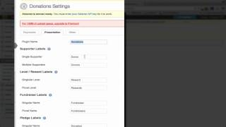 WPMU Fundraising Plugin Walkthrough - Part 2 - General Settings