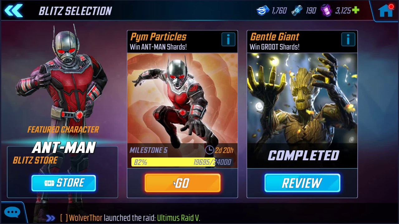Marvel Strike Force - Wasp & Starlord Events and new Blitz changes
