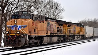 Snowy Freight and Passenger in Upstate NY: March 2019