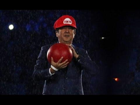 Shinzo Abe Japan PM As Super Mario At Rio Olympics Closing Ceremony