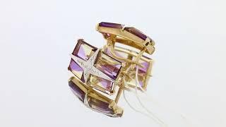 Золотые серьги с аметрином арт. ПС796-31598