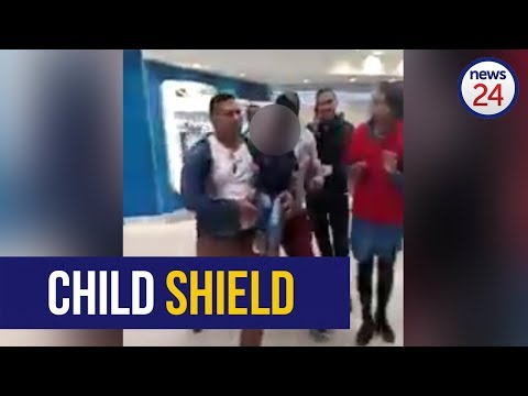 WATCH: Father uses own son as shield during alleged theft