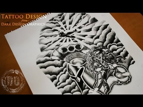 Half Sleeve Tattoo Design Speed Drawing Youtube