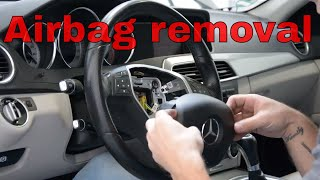 removal airbag - installation steering wheel Mercedes E class w213 - Dr.Volant