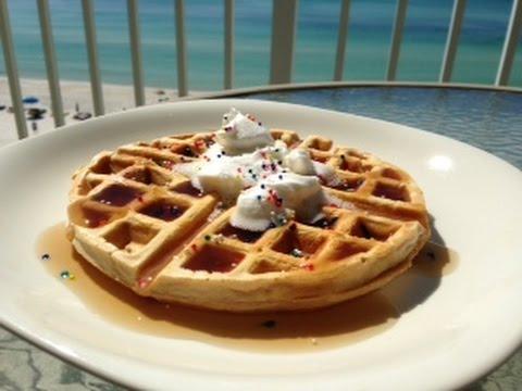 MTS Birthday Cake Protein Waffle Recipe