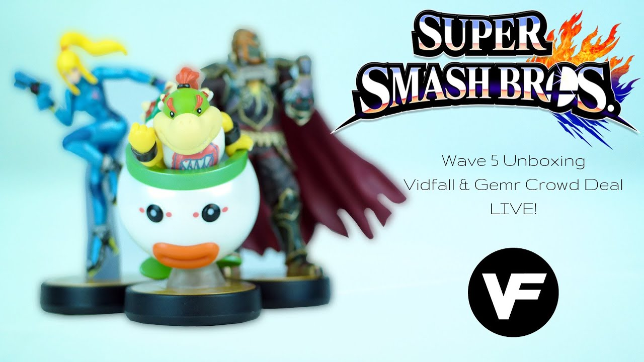 vidfall gemr amiibo crowd deal live wave 5 unboxing giveaways