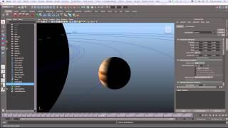 Maya: Solar System Tutorial 3a