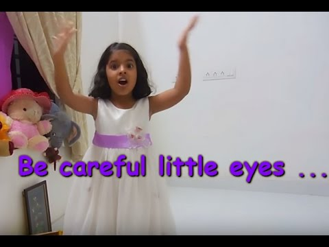 English action song for kids LKGUKG Be careful little eyes