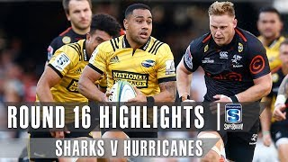 ROUND 16 HIGHLIGHTS: Sharks v Hurricanes – 2019