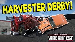 HUGE HARVESTER DEMO DERBY CRASHES! - Next Car Game: Wreckfest Release Gameplay - Wrecks & Races
