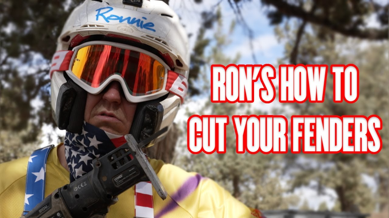Ron's How To Cut Your Fenders