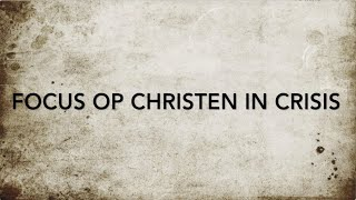 Focus op Christen in Crisis Deel 2: Interview Marina De Joode