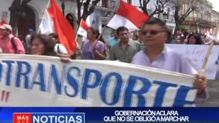 GOBERNACIÓN ACLARA QUE NO SE OBLIGO A MARCHAR
