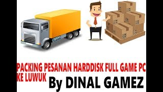 Packing Harddisk Full Game PC Pesanan Pelanggan di LUWUK