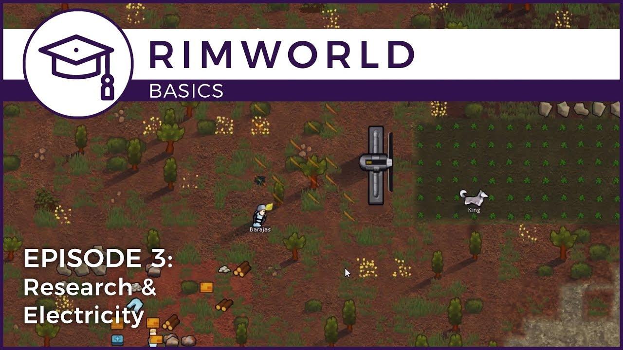 Rimworld - Basics Episode 3: Research & Electricity | Schematics Basics