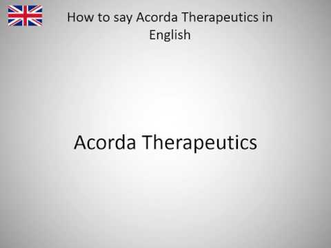 How to say Acorda Therapeutics in English?