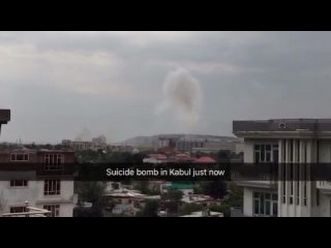 Raw video: Kabul suicide bombing attacks NATO convoy