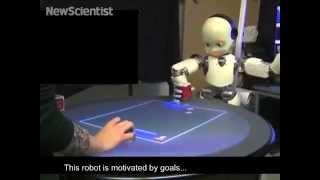 humanoid robot has a sense of self