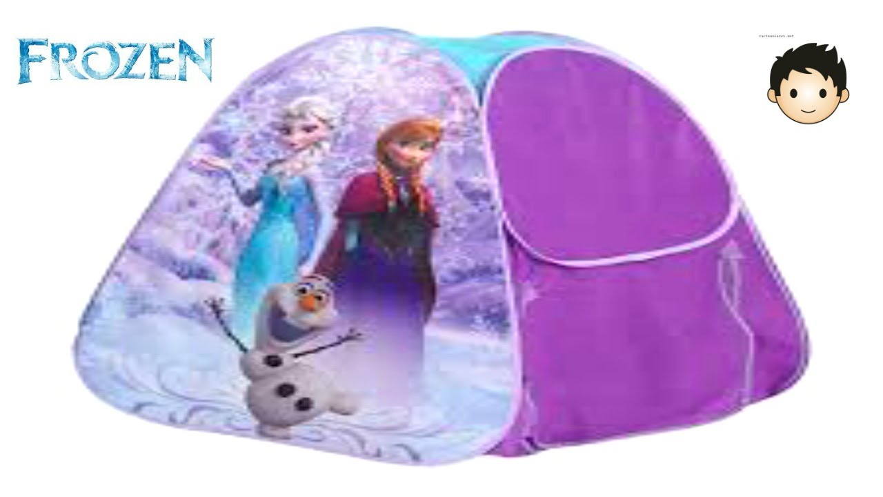 lovely Barbie Tents Part - 15: Disney Frozen Kids Tent Surpise Barbie Frozen and Frozen Let It Go Musical  Collection