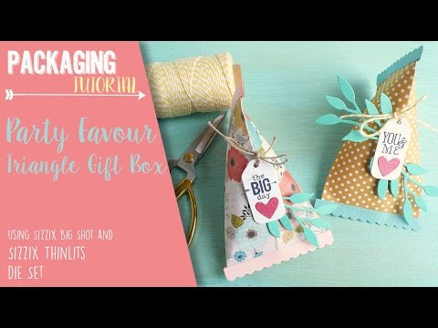 How to make a Party Favour box using Triangle Gift Box Sizzix Die Set