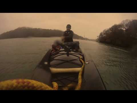 Hammock camping on the river Fal