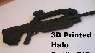 3D Printed Halo Battle Rifle