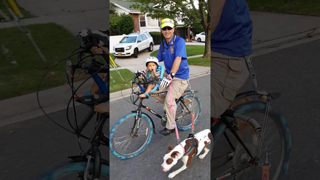 My 8 Month Old Baby On Yepp Mini Bike Seat Love It Youtube