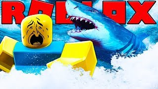 2 PLAYER MEGALODON SHARK ATTACK IN ROBLOX