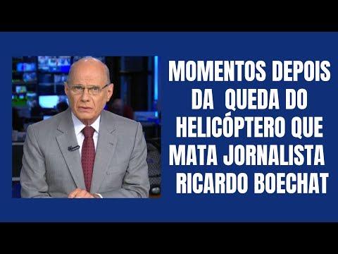 QUEDA DE HELICÓPTERO MATA JORNALISTA BOECHAT (IMAGEM PÓS ACIDENTE)