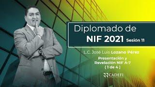 Cadefi - NIFS Sesión 11 - NIF A-7 - 1 de 4  - 9 de Febrero