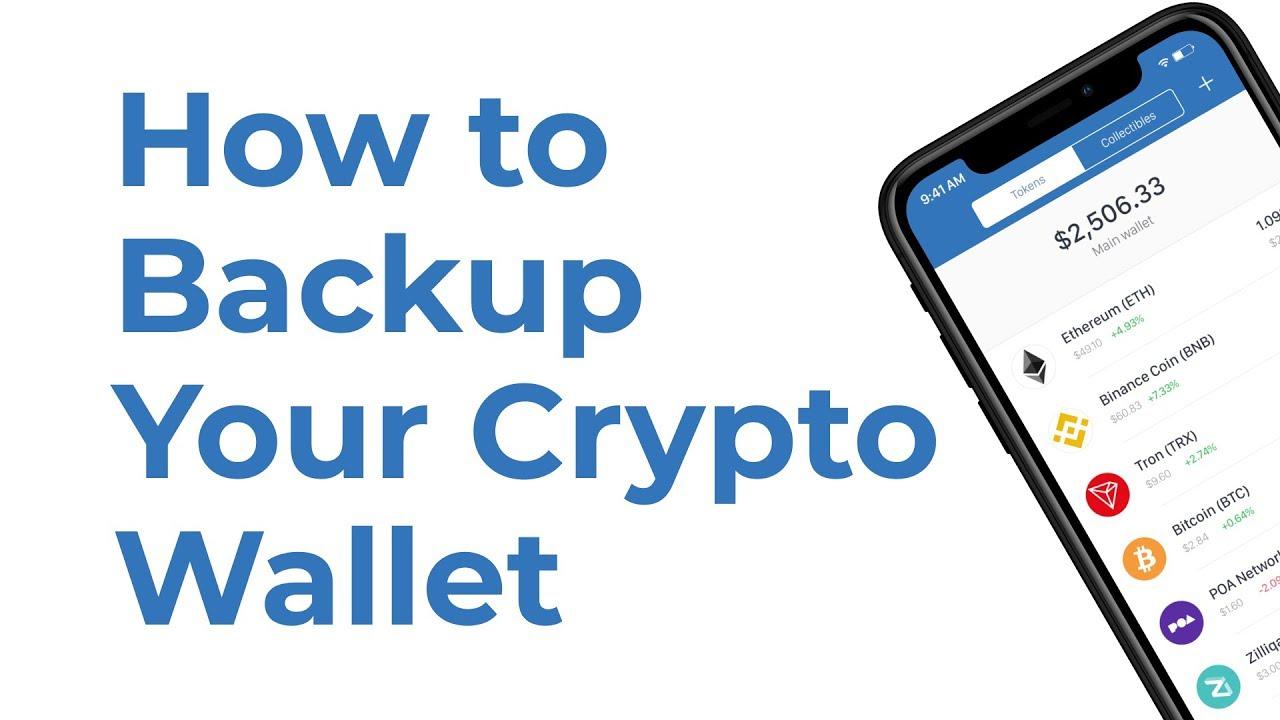 bitcoin di backup