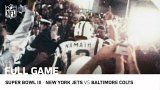 super bowl iii joe namaths guarantee jets vs colts nfl full game