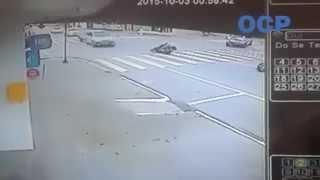 Flagra de acidente gravíssimo em Guaramirim