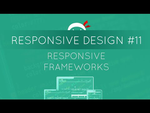 Responsive Web Design Tutorial #11 - Responsive Frameworks Introduction