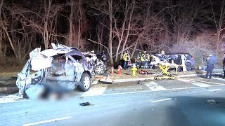 Police chase on Long Island ends in deadly crash, 3 killed