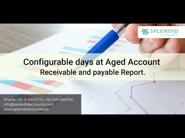 Configurable days at Aged Account Receivable & Payable Report in Splendid Accounts.