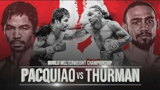 """MANNY """"PACMAN"""" PACQUIAO VS KEITH """"ONE TIME""""  THURMAN FULL FIGHT"""